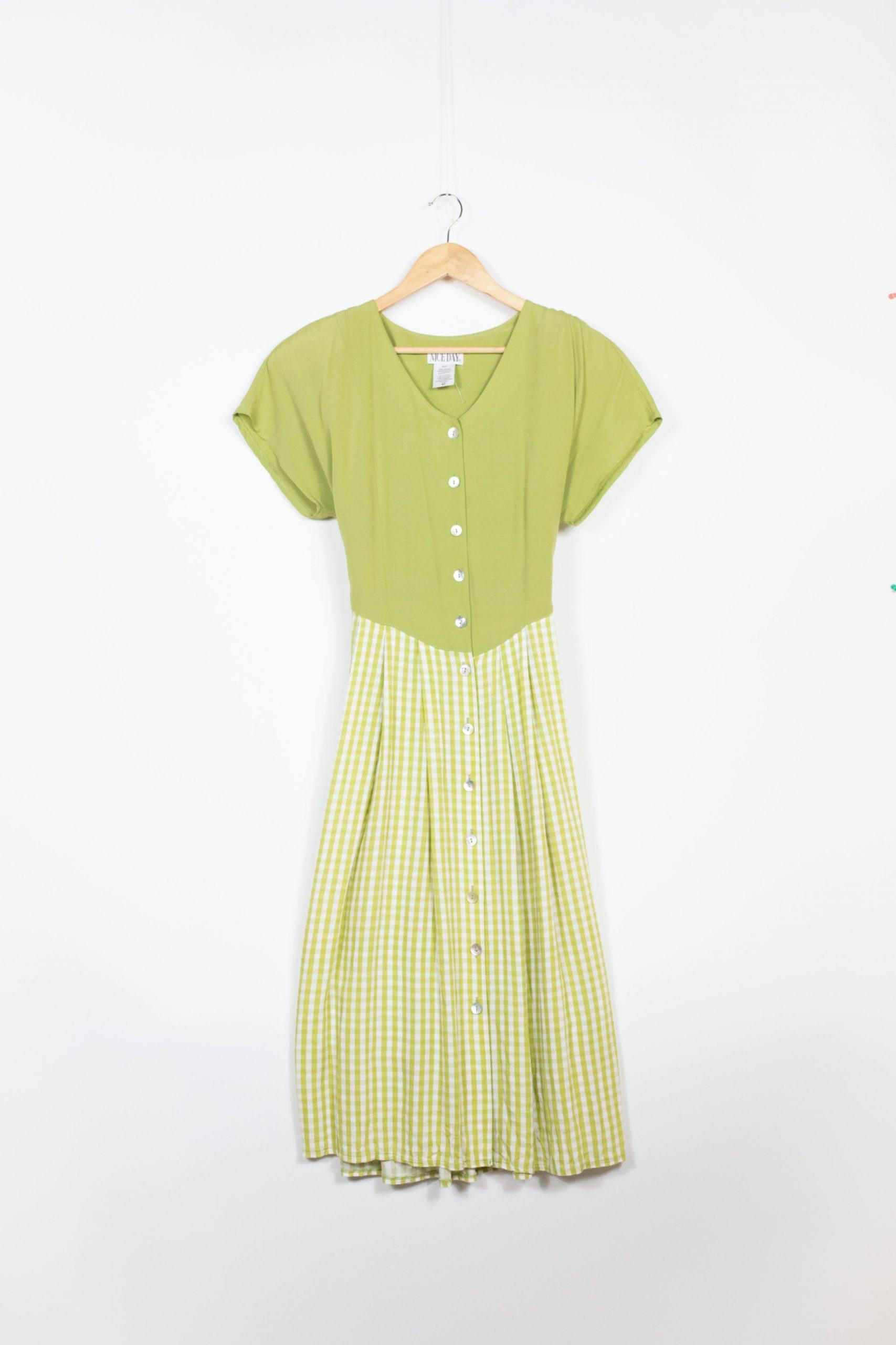 robe verte longue vintage