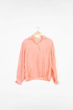 chemise rose saumon vintage