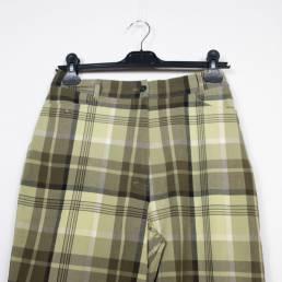 pantalon carreaux kaki vintage