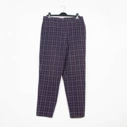 pantalon carreaux violet