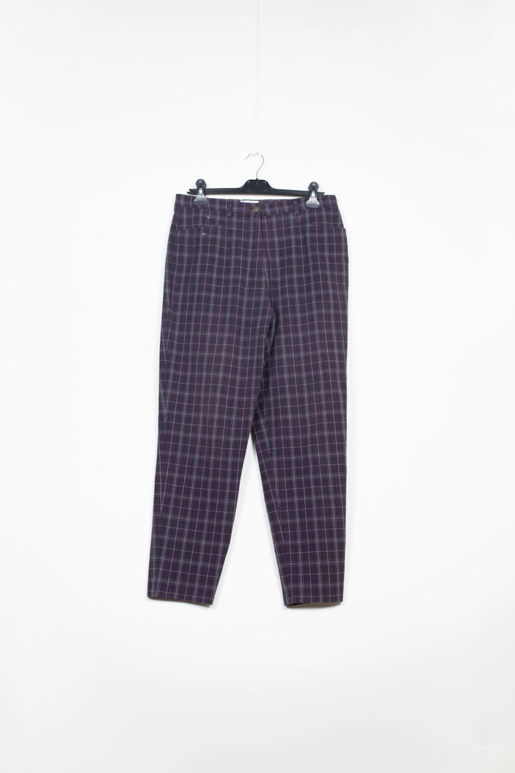 pantalon carreaux violet