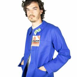 veste blu de travail cèdre