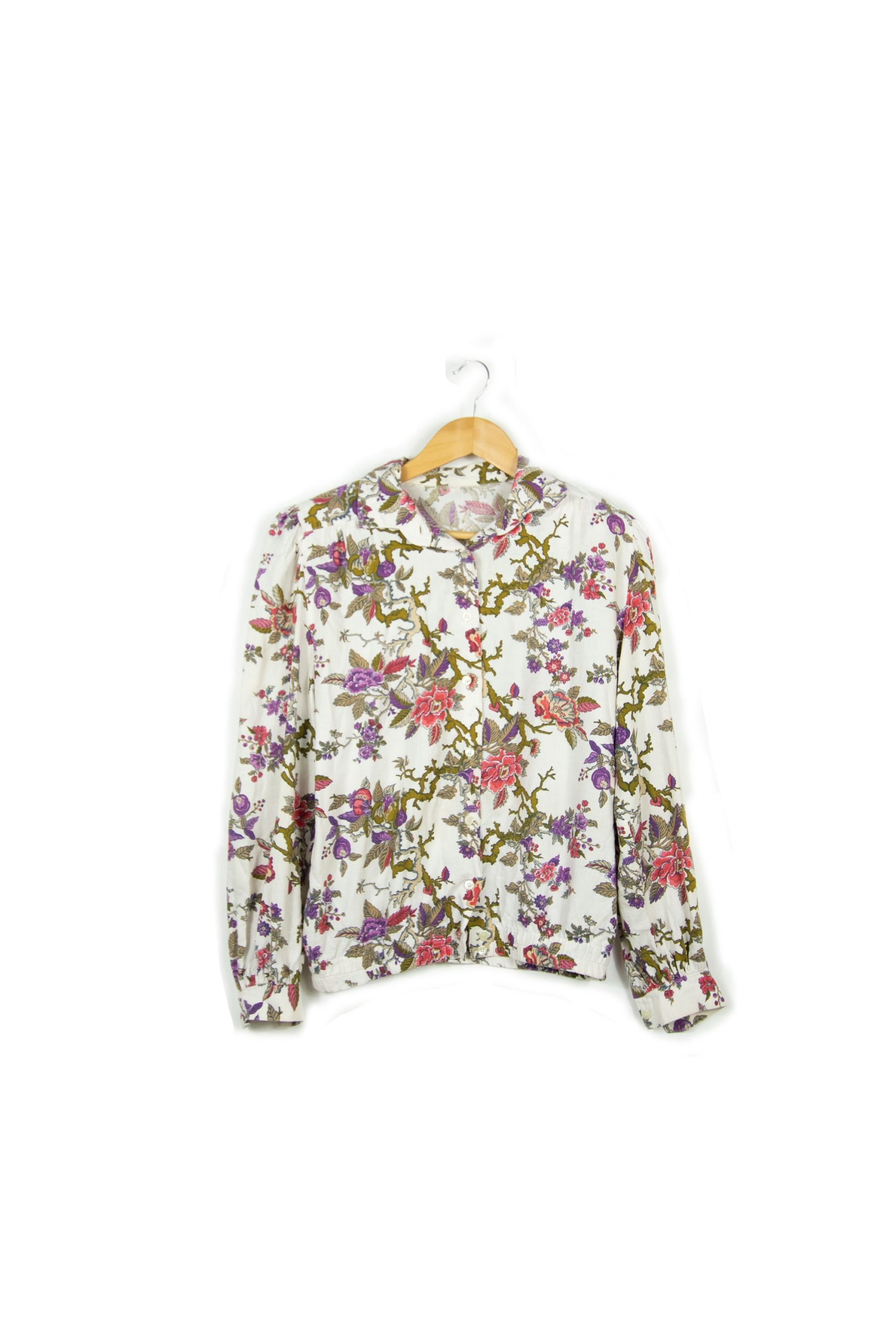Chemise vintage à fleurs taille s