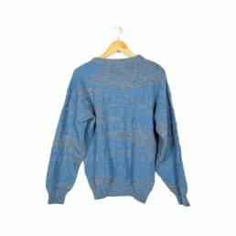 Pull en laine bleu