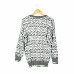 Pull à motifs gris taille L
