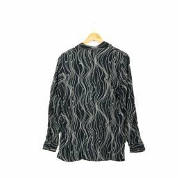 Chemise à motifs noire
