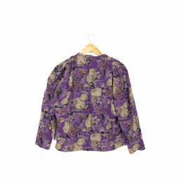 Chemise violette à motifs