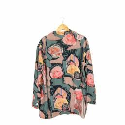 Chemise à motifs roses