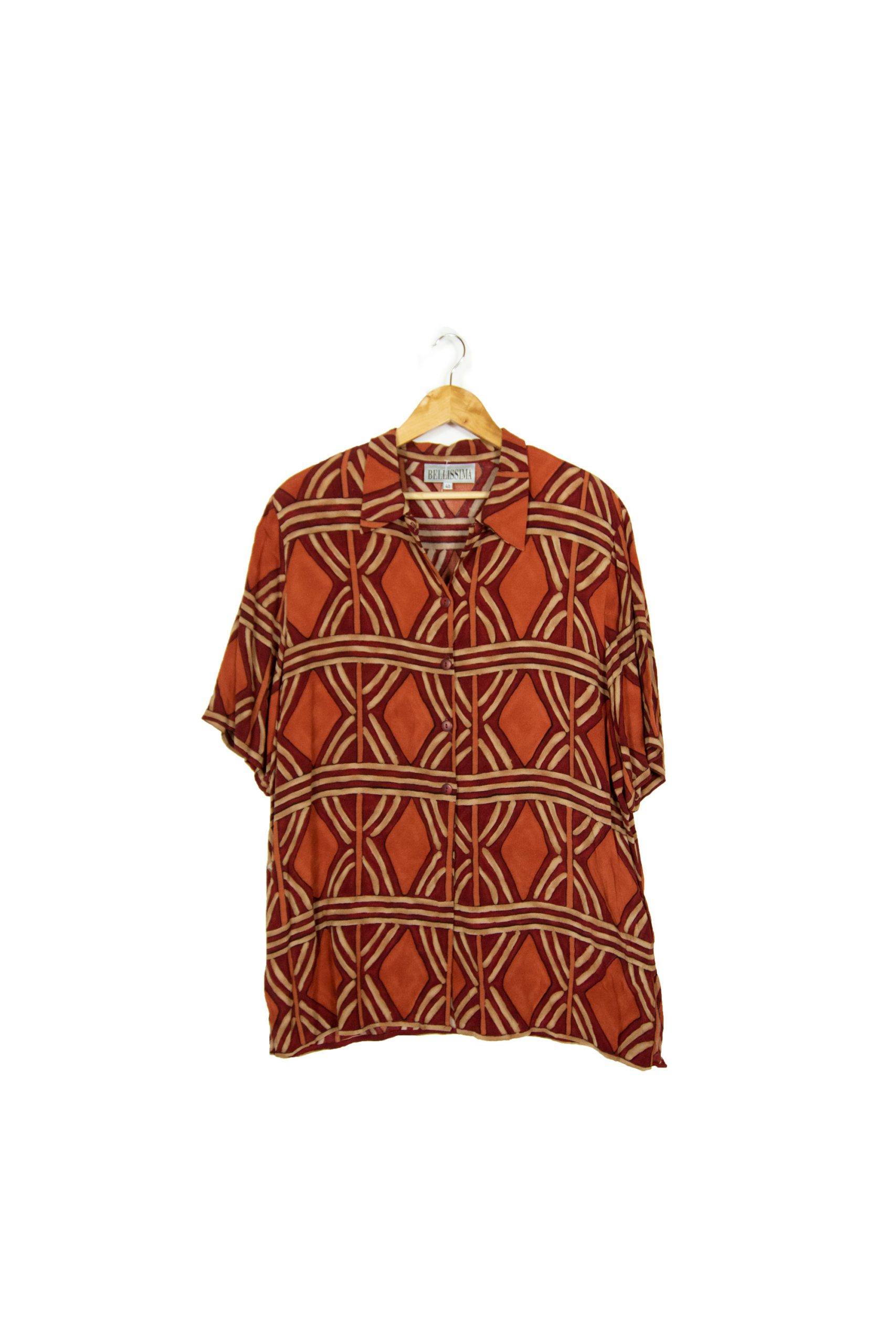 Chemise rouge à motifs Taille M
