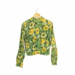 Chemise verte à motifs