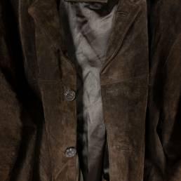Manteau en daim marron
