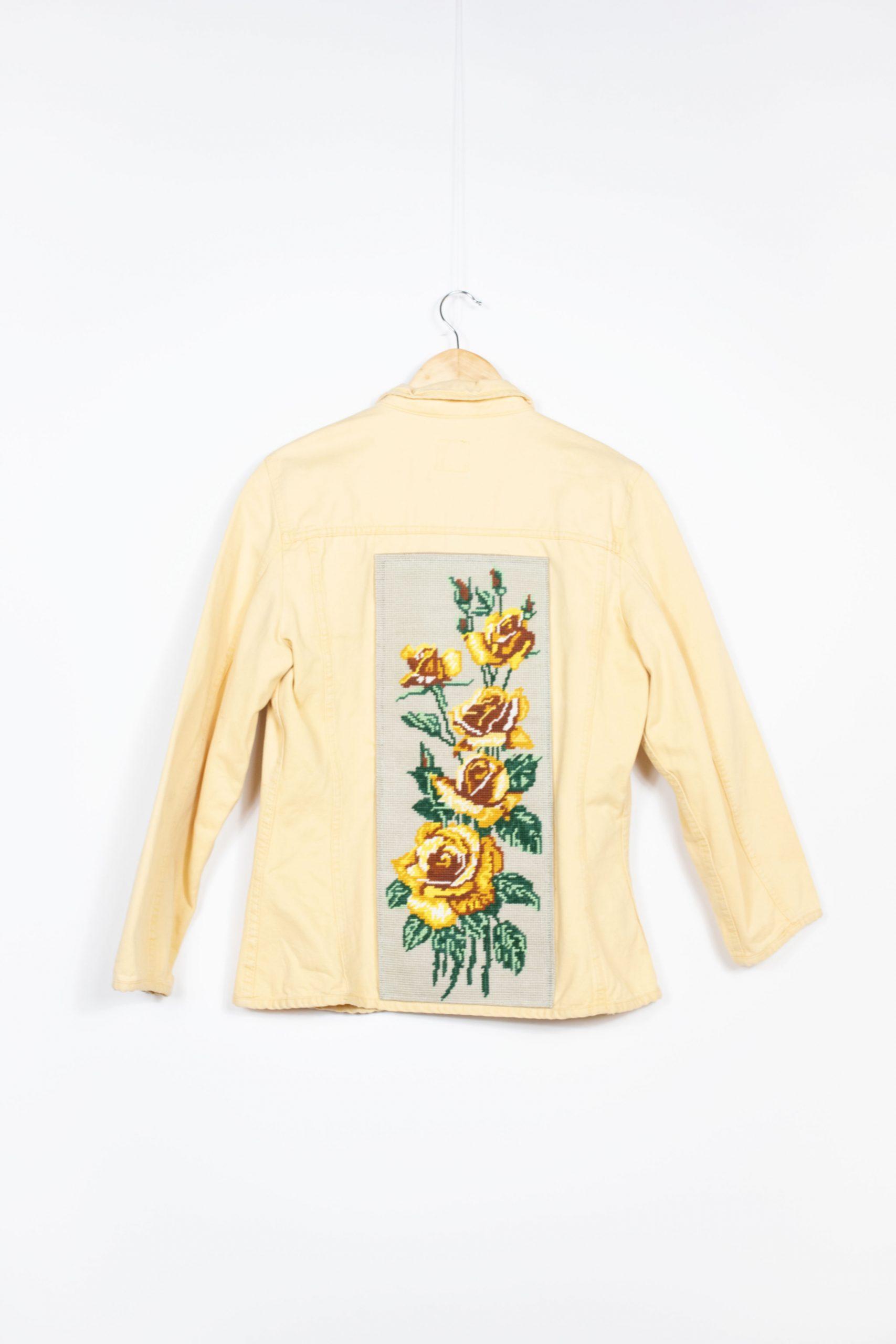 veste canevas jaune vintage