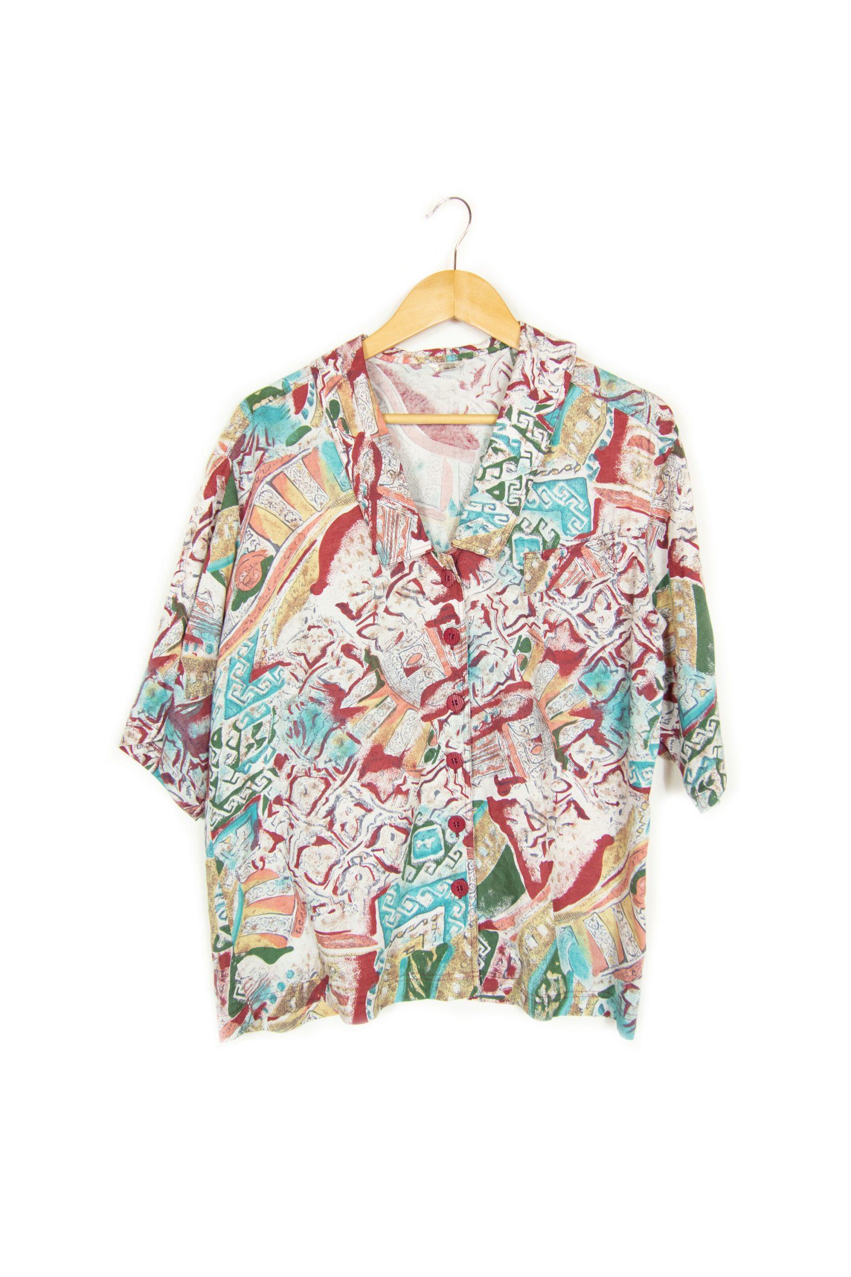 Chemise à motifs taille M
