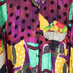 Chemise violette longue