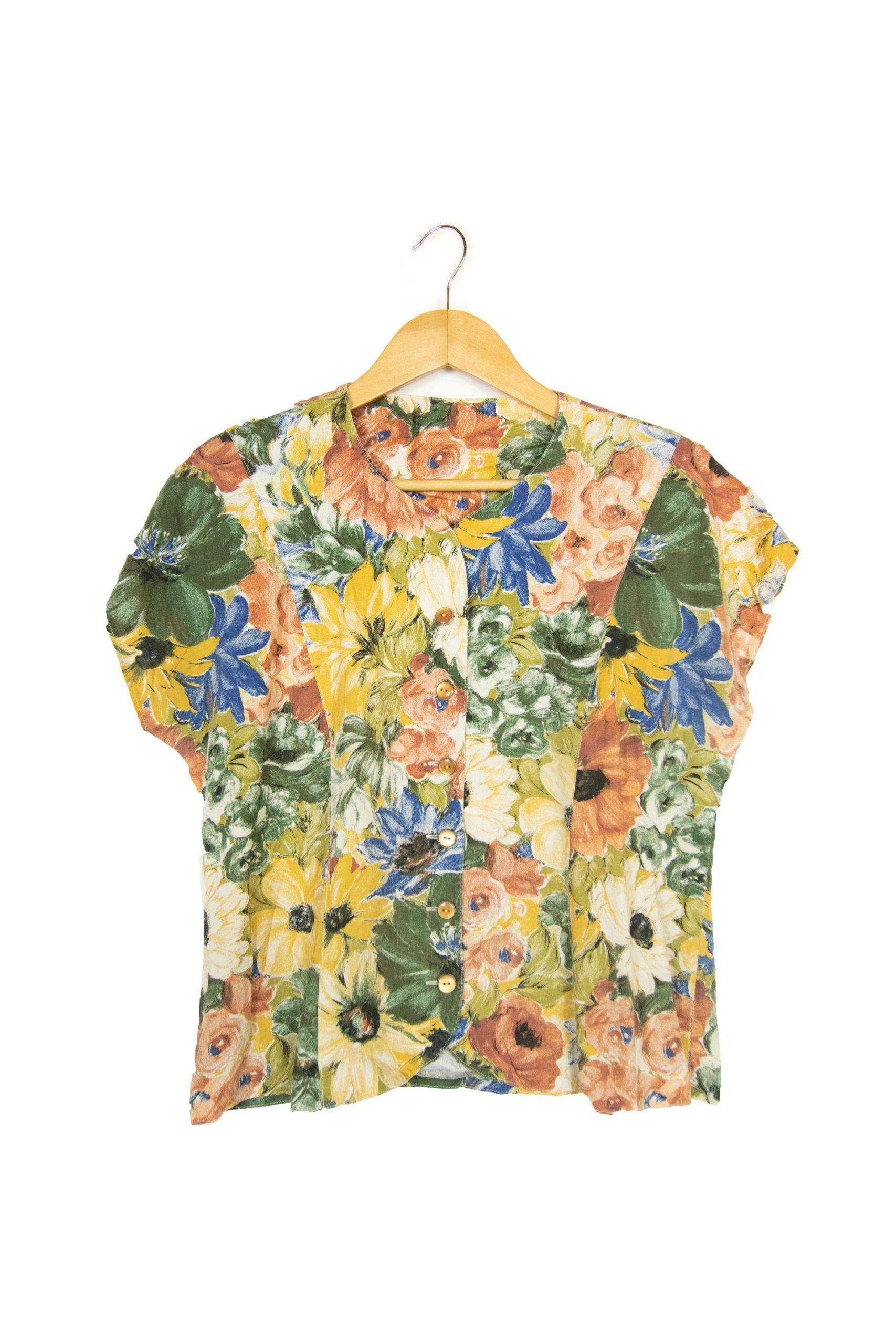 Chemise à fleurs taille M
