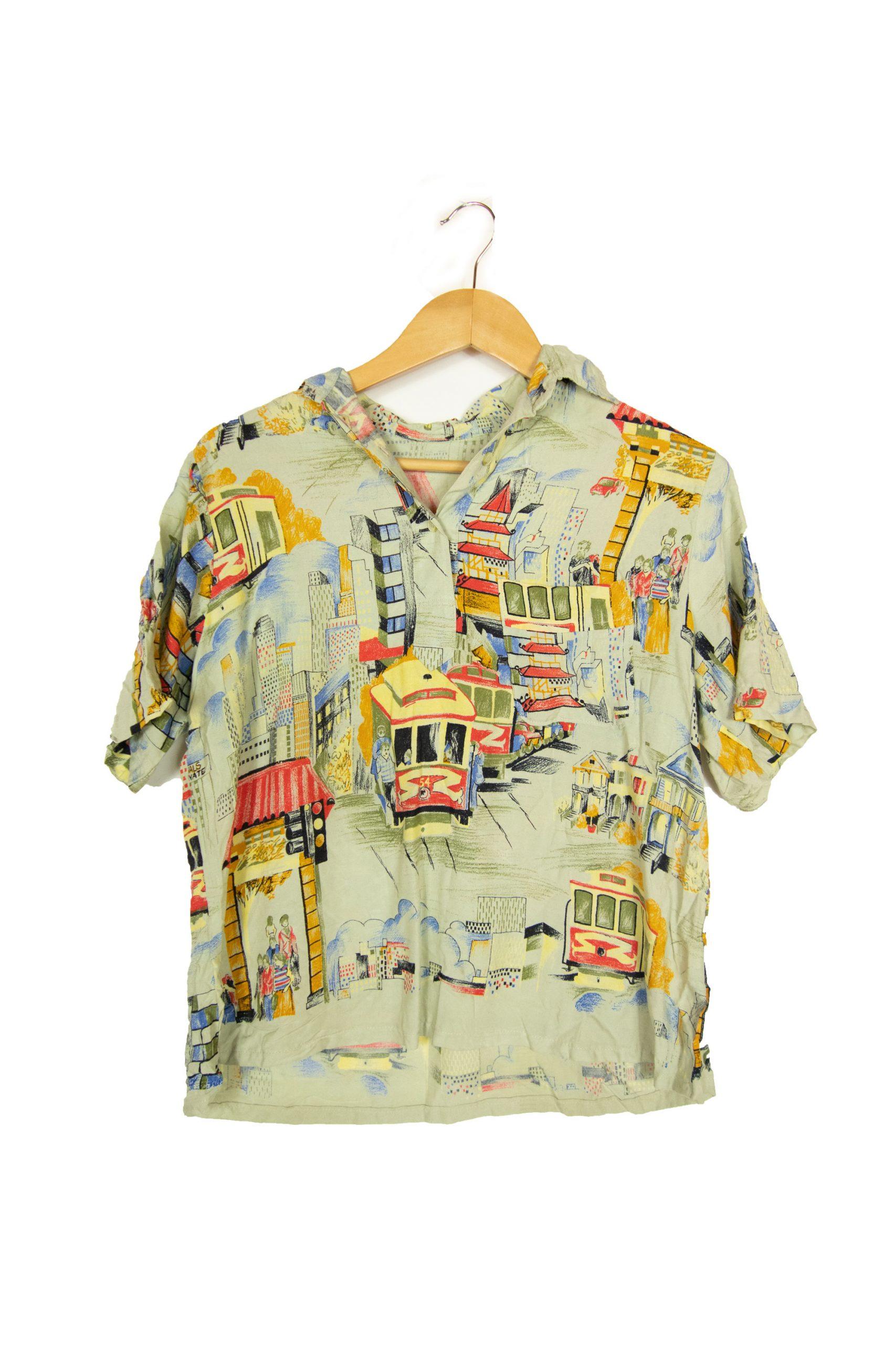 chemise à motifs taille s