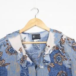 chemise vintage bleue blanc