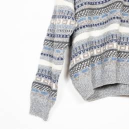 pull gris hiver vintage