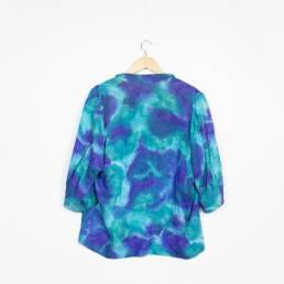 chemise retro bleu violet