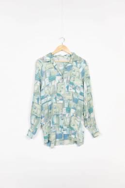 chemise longue vert vintage