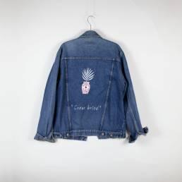 Veste jean cœur brisé
