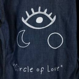 veste jean brodée circle of love